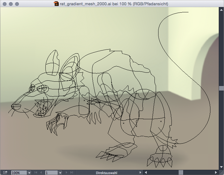 Illustrator Rat Wireframe