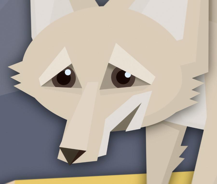 Alert fox eyes
