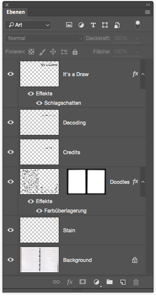 Photoshop layer structure.