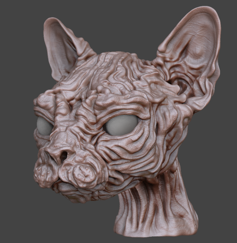 ZBrush mesh at its highest subdivision level.