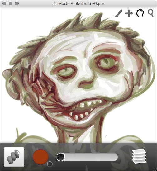 Preliminary zombie sketch.