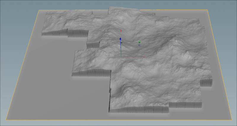 Houdini heightfield projection in OpenGL viewport.